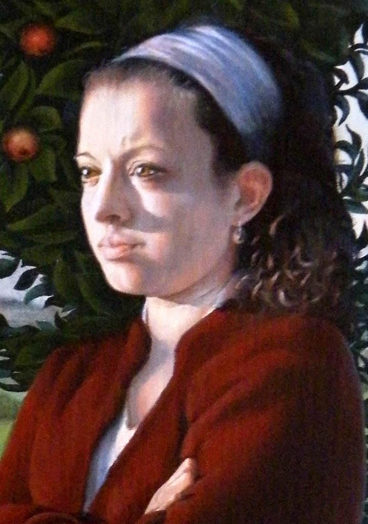 Portré festés akvarellel